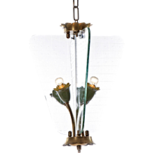 1940's four light Lantern Attributed to Fontana Arte