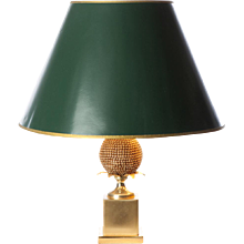 1970's Brass table lamp attributed to Maison Le Dauphin