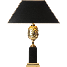 1970's brass table lamp attributed to Maison Jansen