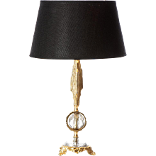 Brass and Glass table lamp in style of Sciolari