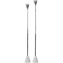Pair of Marble & Steel Floor lamps in style of Gino Sarfatti