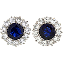 TIFFANY & CO. Burma Sapphire & Diamond Earrings