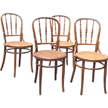 Set of 4 Chairs 19th Century Viennese by J&J Kohn Company