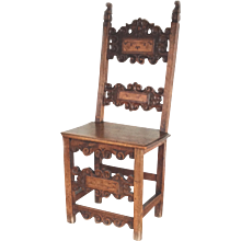 XVII Century Italian Walnut Side Chair