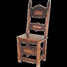 XVII Century Italian Walnut Side Chair