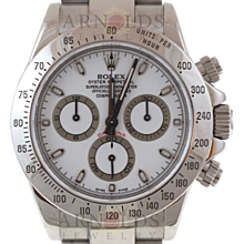 Pre-Owned 2008 Rolex Stainless Steel Daytona Watch With White Index Dial With Oyster Band Model# 116520  PRICE - $11,000.00
