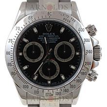 Pre-Owned 2008 Rolex Stainless Steel Daytona Watch With Black Index Dial With Oyster Band Model# 116520  PRICE - $11,000.00