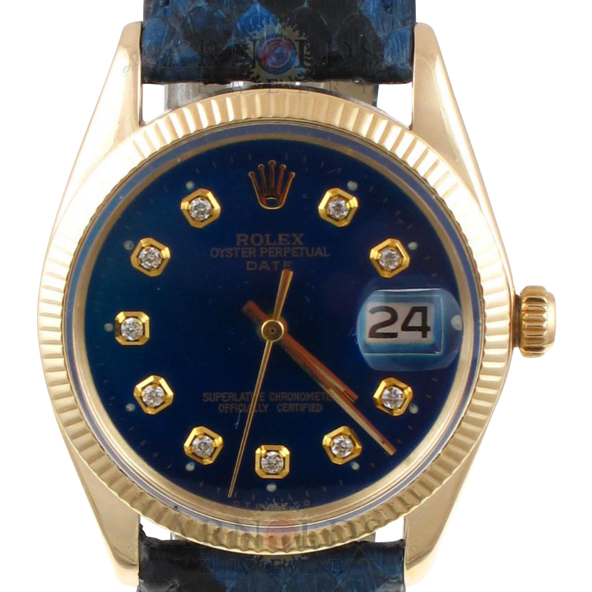 Pre Owned 1970 Vintage 14kt Yellow Gold Rolex Date Watch