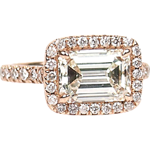 2.95 ctw GIA Engagement Ring Rose Gold