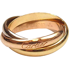 Cartier Trinity Rolling Ring 18k Tri-Color Gold