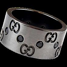 Gucci Icon .30 ctw Black Diamond Designer Band