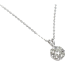 .84 ctw Diamond Necklace 14k White Gold