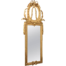 Unusually Large Antique Baltic Giltwood Mirror, Early 19th Century