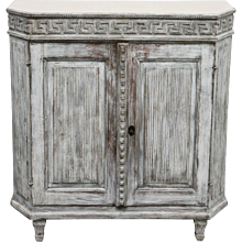Antique Swedish Gustavian Painted Small Sideboard, Early 19th Century