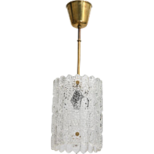 Orrefors Crystal Pendent Light by Carl Fagerlund, Swedish, 1960s