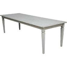 Antique Long Swedish Dining Farm Table