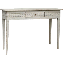 Antique Swedish Gustavian Console Table with Drawer Mid-19th Century