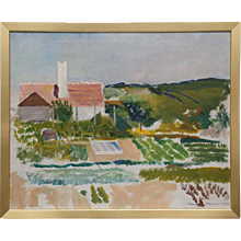 Impressionist painting by Harold Hansen signe 1936