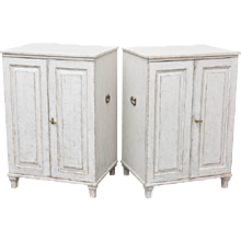 Pair of Antique Swedish Painted Serving Cabinets Early 19th Century