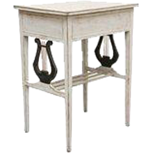 Antique Swedish Painted Gustavian Style Small Side Table Early 19th Century