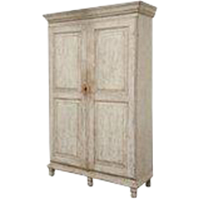 Antique Swedish Painted Gustavian Armoire/Cabinet, Late 18th Century