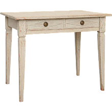Antique Swedish Gustavian Style Painted Writing Desk, Mid-19th Century
