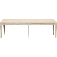 Antique Swedish Gustavian Long Painted Bench, Mid-19th Century