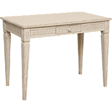 Antique Swedish Painted Gustavian Console Table, Mid-19th Century