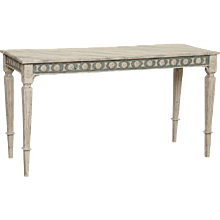 Antique Swedish Gustavian Painted Console Table, Early 19th Century