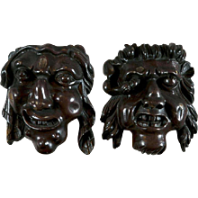 Pair of Grotesque Masks