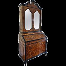Italian Baroque Bureau Bookcase