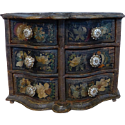 Miniature German Lacca Povera Chest