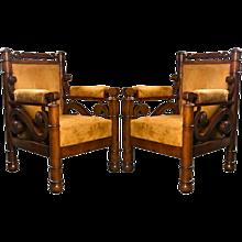 A Pair of  Biedermeier Armchairs