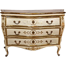 A Italian 18th Century Painted Bombe Commode