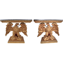 A Pair of 18th Century Gilt Wood Consoles