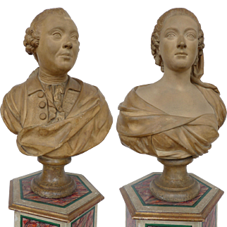 Pair of Fine Plaster Busts