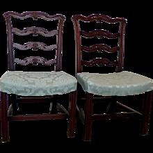 Pair George III Mahogany Chairs