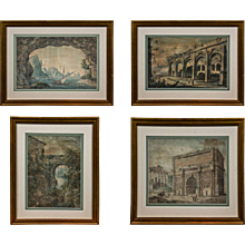 Set of 4 Italian Watercolours