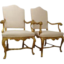 Pair Venetian 18th Century Armchairs