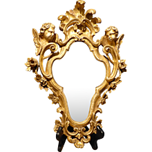 Italian Carved Gilt Wood Mirror