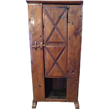 Early Rustic Walnut Cupboard