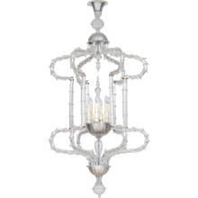 "Italian ""Cesendello"" Chandelier in Murano Glass"