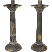 Murano Glass pair of Candlesticks, Cenedese signed