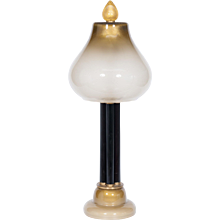 Italian Table Lamp in Murano Glass Straw-Yellow and 24-Karat Gold