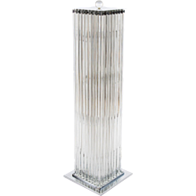 Italian Floor lamp in transparent Murano Glass, 1980s