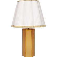 Italian hexagonal Table lamp in Murano Glass, 1980s