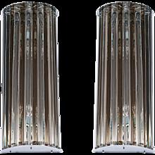 Pair of Italian Murano Glass Sconces, 1980s