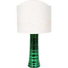 Italian Table lamp in Murano Glass in green mirrored, 1980s