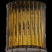 Italian Sconce in Murano Glass amber, 1960s