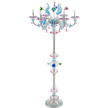 Italian Ca'Rezzonico Floor lamp in Murano Glass